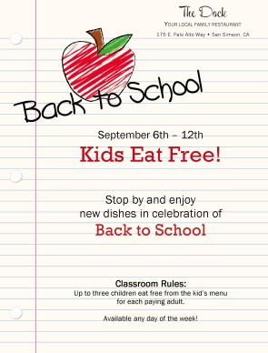 Customize Back to School Flyer