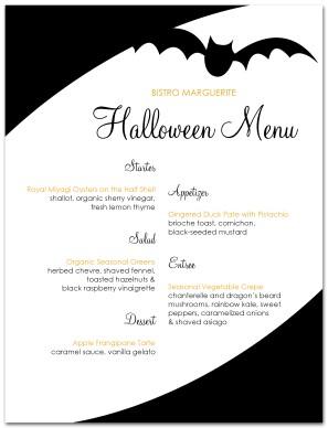 Spooky Halloween Menu Template   Halloween Menu