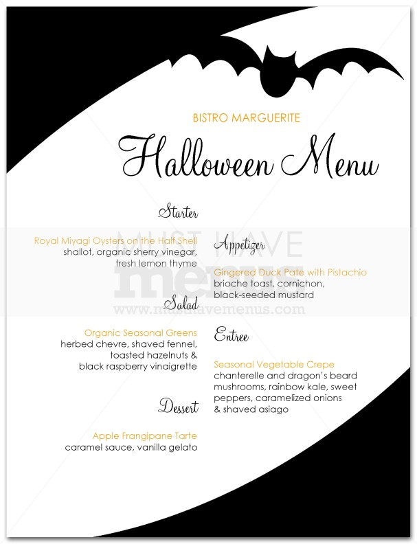 Spooky Halloween Menu | Page 1