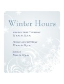 Wintertime Hours Flyer