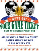 Sunday Ticket Football Flyer