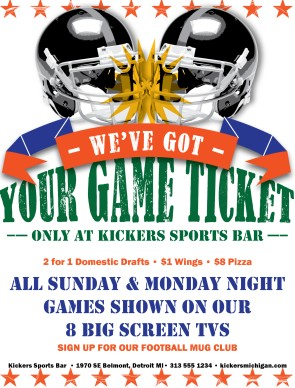 Sunday Ticket Football Flyer | Sports Flyer