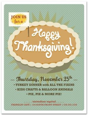 happy thanksgiving flyer template thanksgiving flyer