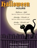 Halloween Holiday Hours Flyer