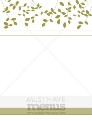 Leafy Menu Background Backgrounds