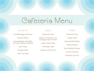 hospital menu template - daily cafeteria menu template archive