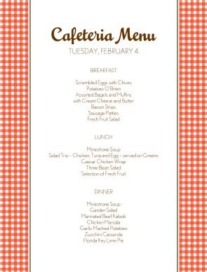 how to plan cafeteria menu