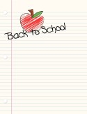 Back to School Menu Background