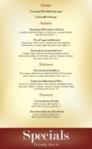 Family Restaurants Specials Menu