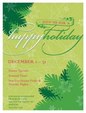 Customize Happy Holiday Flyer