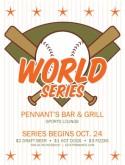 Baseball World Series Flyer