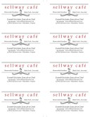 East Cafe Business Card