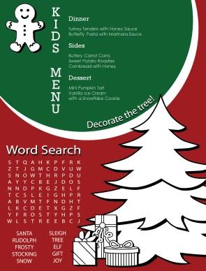Kids holiday menu christmas menus customize kids holiday menu pronofoot35fo Images