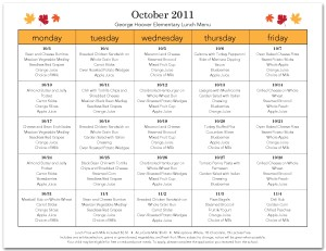 School cafeteria menu template cafeteria menus for Free school lunch menu templates
