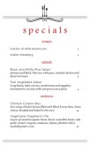East Cafe Specials Menu
