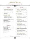 Brunch Market Cafe Menu