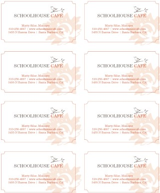 Customize Garden Cafe Business Card