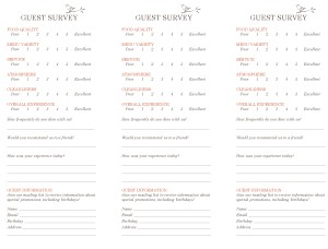 Customize Garden Cafe Comment Card