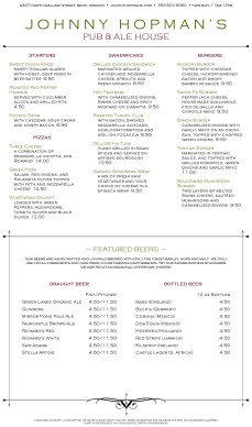 Customize American Pub Menu