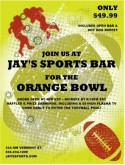 Bowl Game Flyer