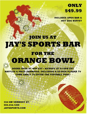 Customize Bowl Game Flyer