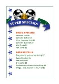 Super Football Specials Table Tent