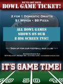 College Bowl Game Flyer