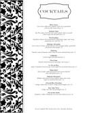 fine dining menu template free - fine restaurant cocktail menu