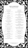 Fine Restaurant Dining Menu Long