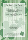 St Pattys Specials Table Tent