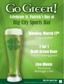 St Patricks Day Specials Flyer