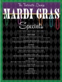 Mardi Gras Specials Menu