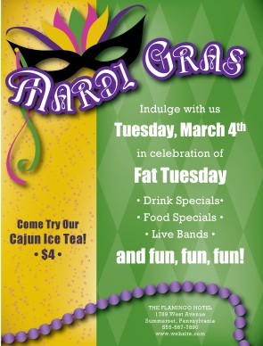 Customize Mardigras Flyer