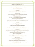 Italian Fine Dining Bar Menu