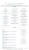 Downtown Fine Dining Menu Long