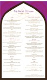 Indian Lunch Menu Long