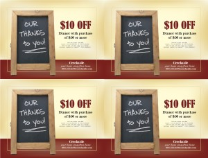 Restaurant Coupon Template | Marketing Archive
