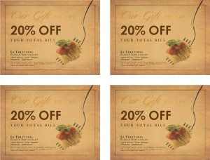 Customize Printable Restaurant Coupon