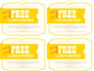 free meal coupon template free coffee voucher template free food coupon template