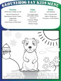 Groundhog Day Kids Menu