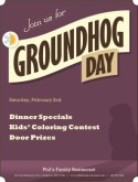 Groundhog Day Flyer
