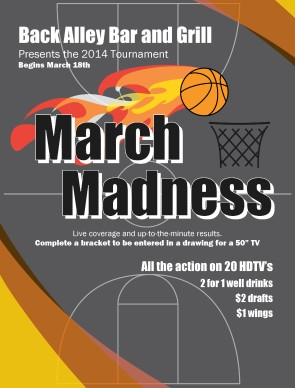 March Madness Dates Flyer Sports Flyer