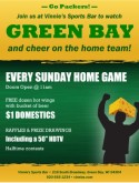 Green Bay Football Flyer