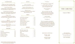 Customize Italian Fine Dining Takeout Menu