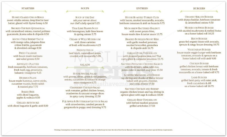 Italian Restaurant Menu Design Sample