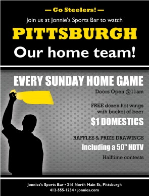 Customize Pittsburgh Football Flyer