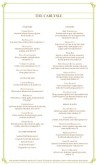 Italian Fine Dining Menu Long