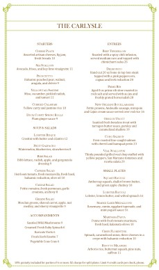 Customize Italian Fine Dining Menu Long
