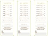 Italian Fine Dining Comment Card
