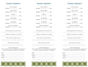 Customize Mexican Lunch Comment Card